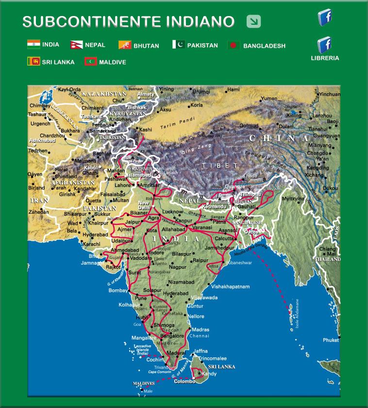 India Del Nord Cartina.Viaggi Avventure Nel Mondo Indice Viaggi Subcontinente Indiano